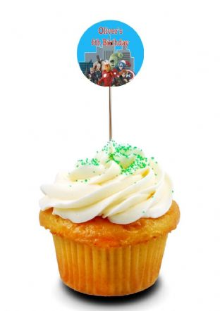 Avengers Cupcake Picks/Toppers